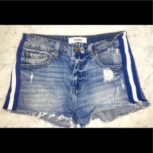 Pistola Winston High Rise Fitted Cut-Off Shorts